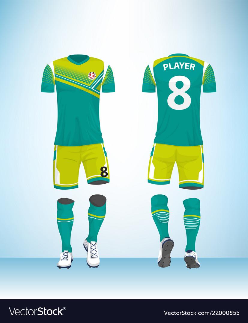 b935746c9f5 Uniform football design template Royalty Free Vector Image