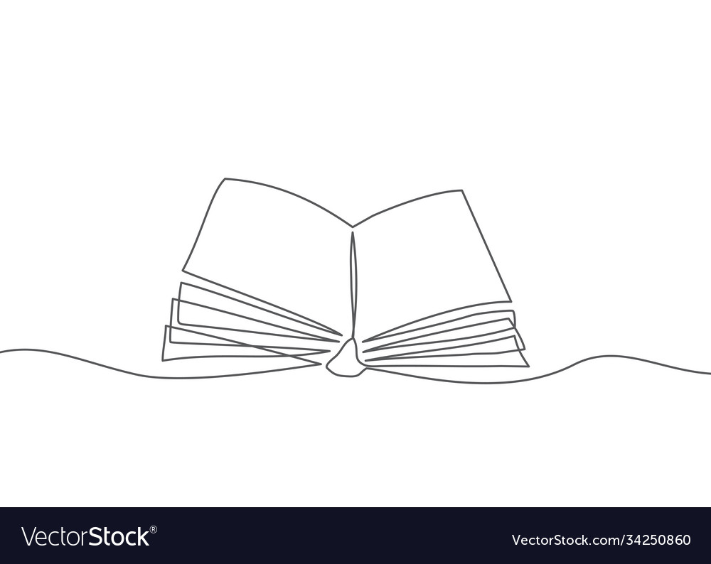 Book one line drawing book in line style on