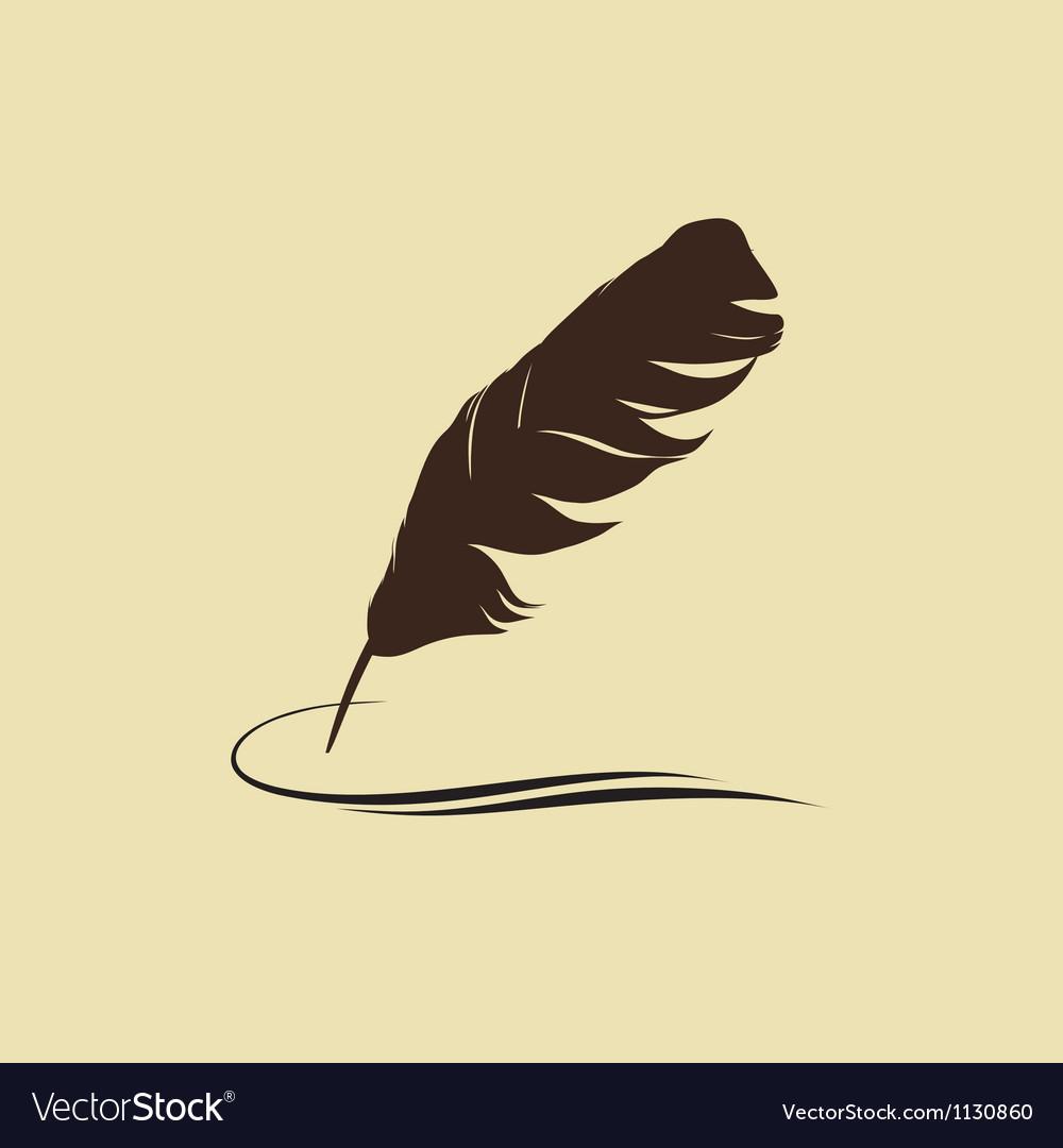 Calligraphic pen vector image