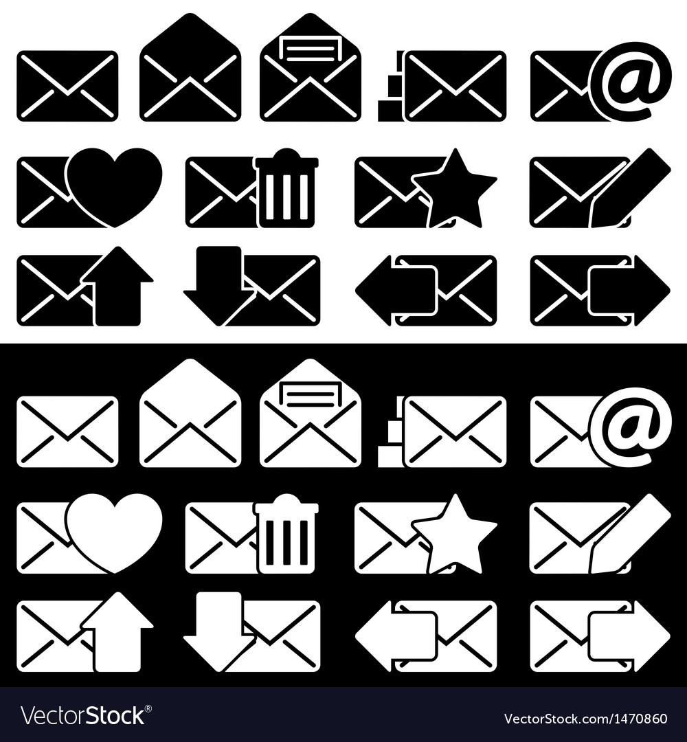 Envelopes for email set