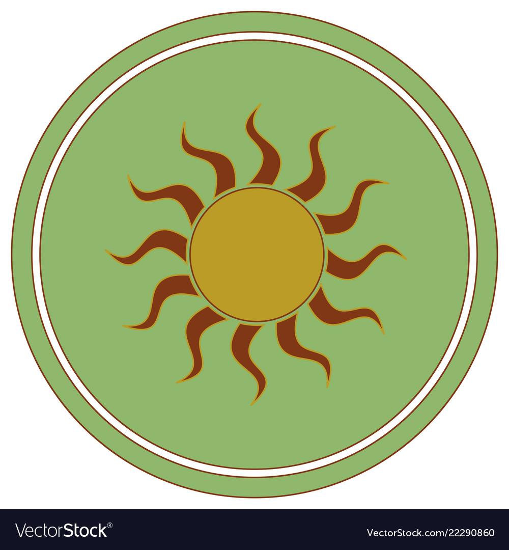 Sun stylized image icon