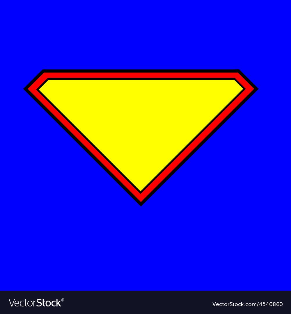Superman Logo vector image