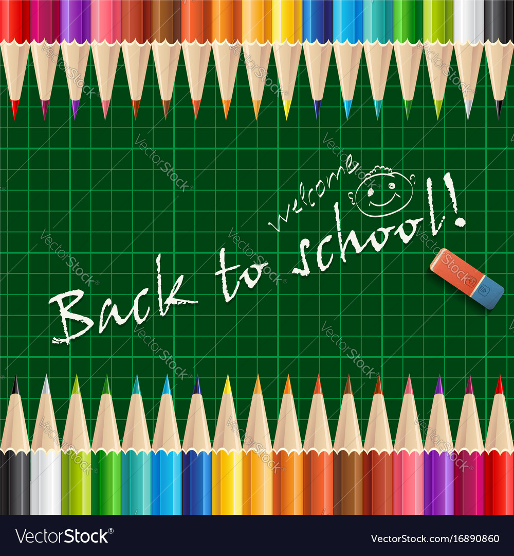 Welcome back to school background or card with