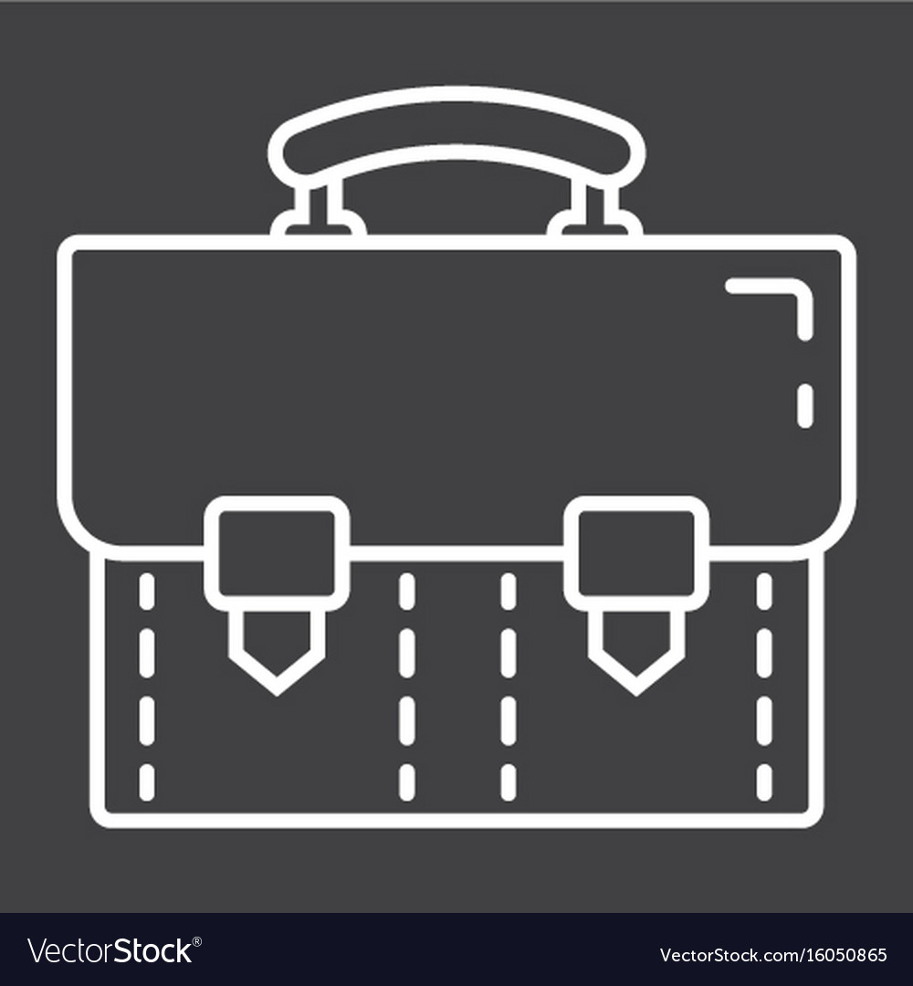 Briefcase line icon business and portfolio