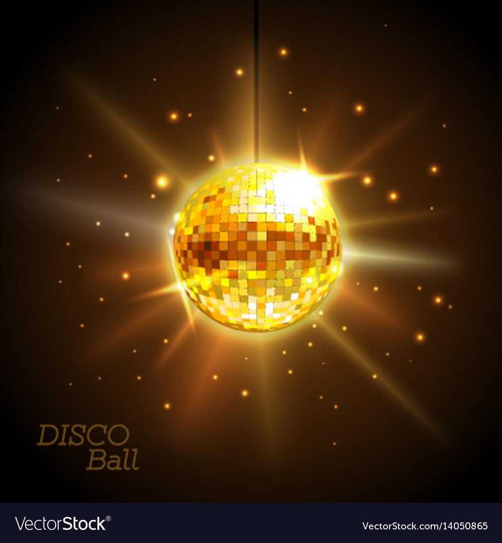 Disco ball disco background
