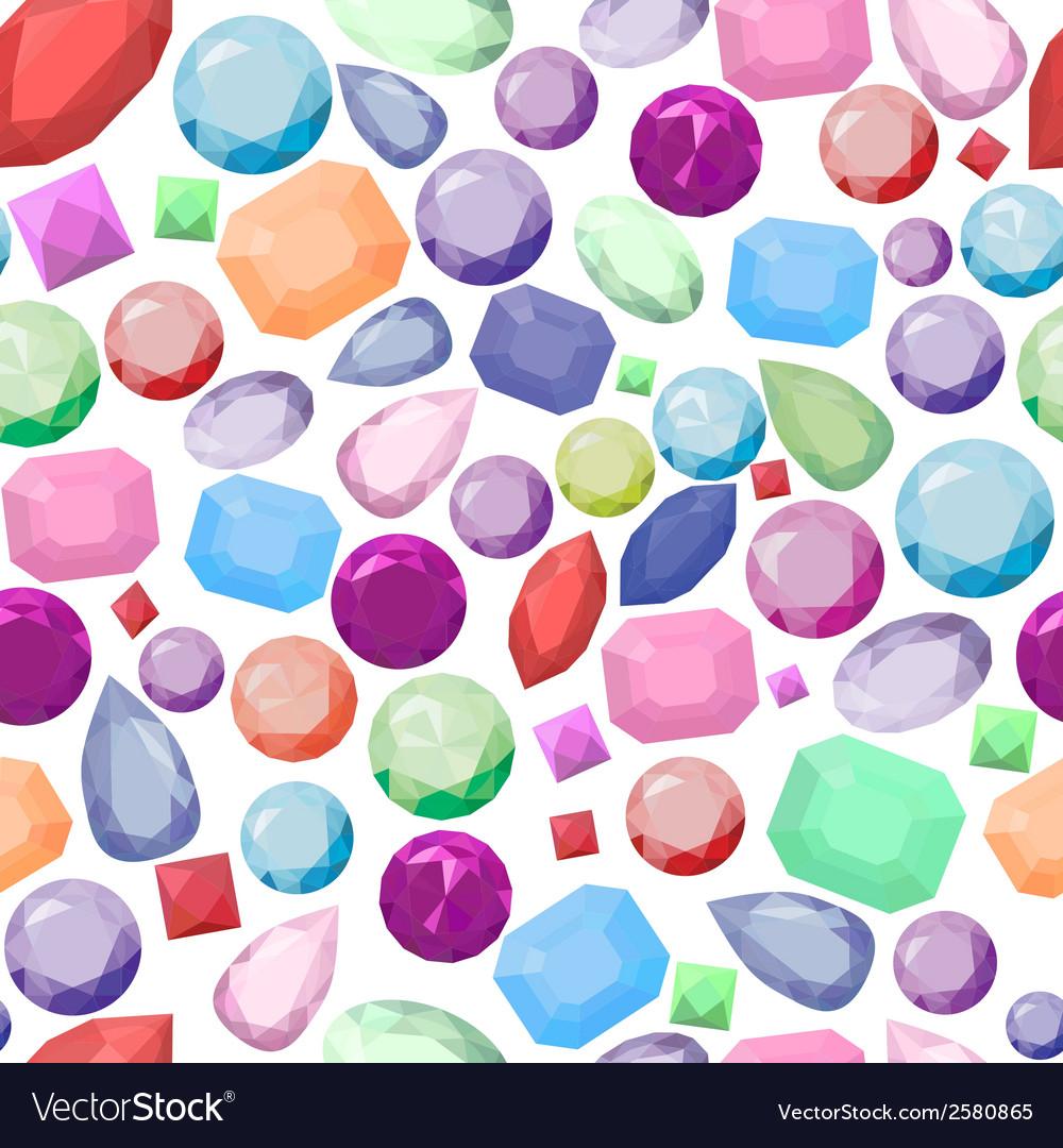 Jewel pattern vector image