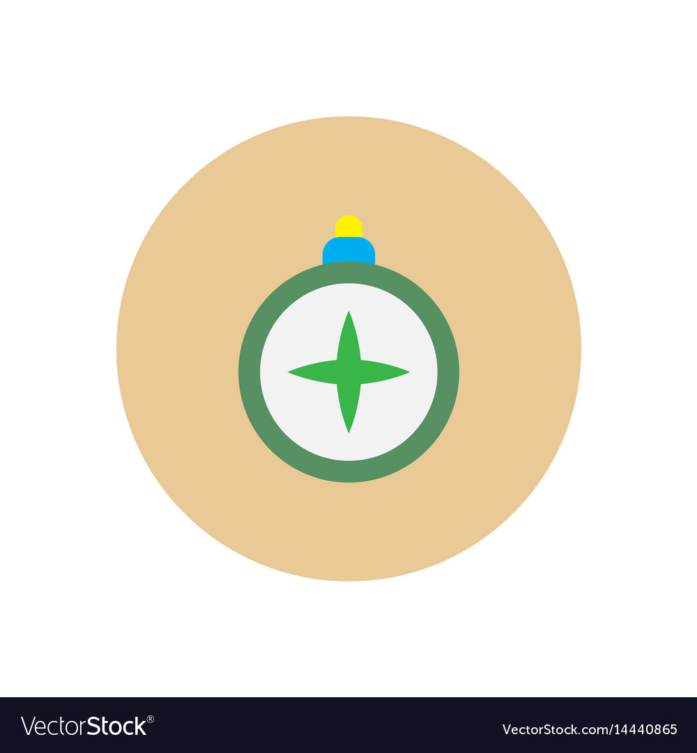 Stylish icon in circle vintage tourist compass