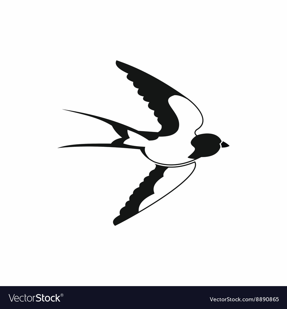 Swallow icon black simple style