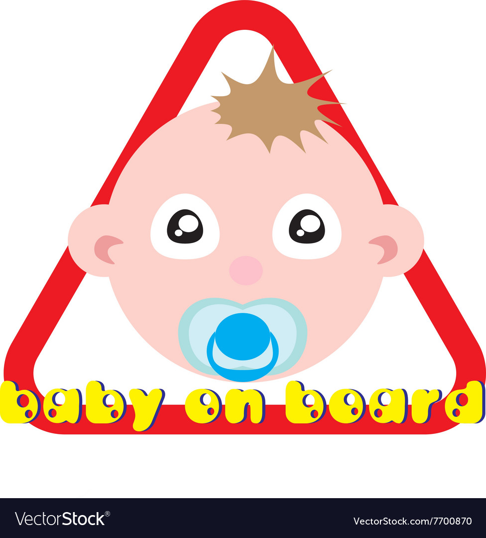 Baby on board sign white background
