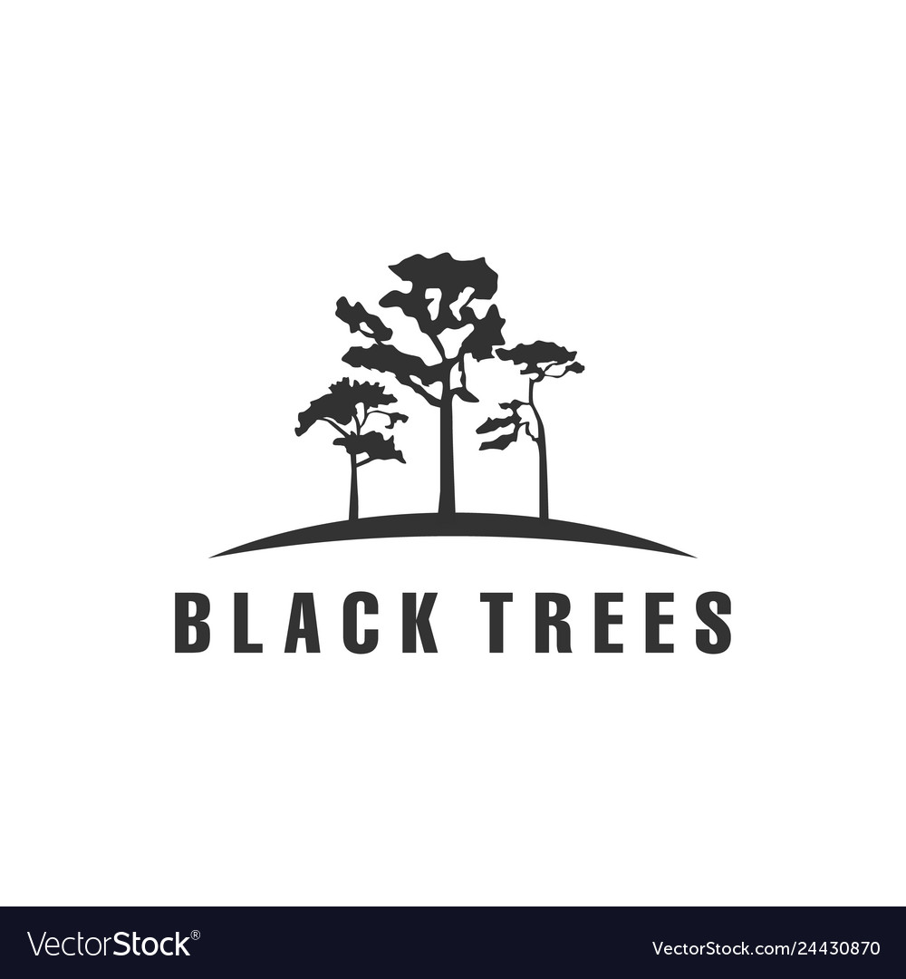 Black trees logo designs