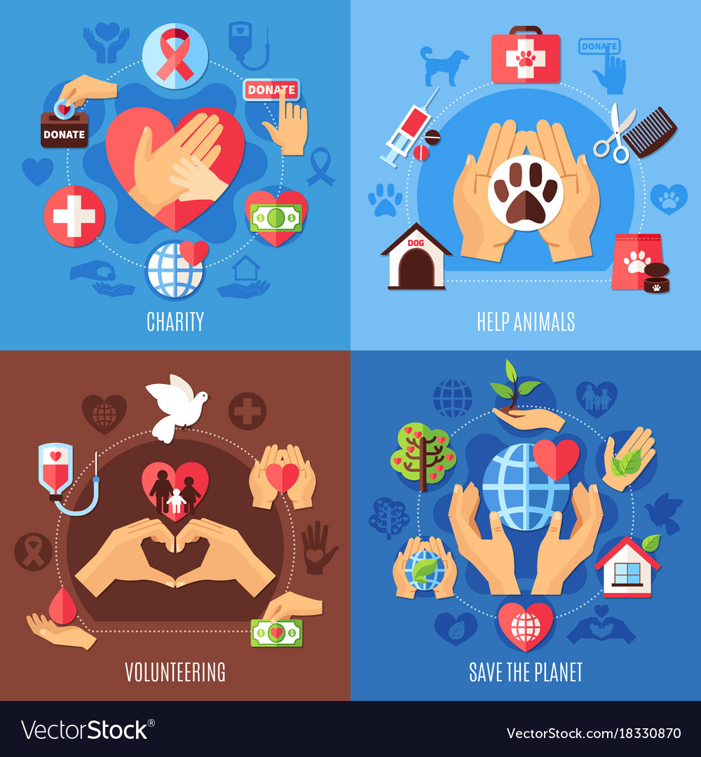 Charity help design concept