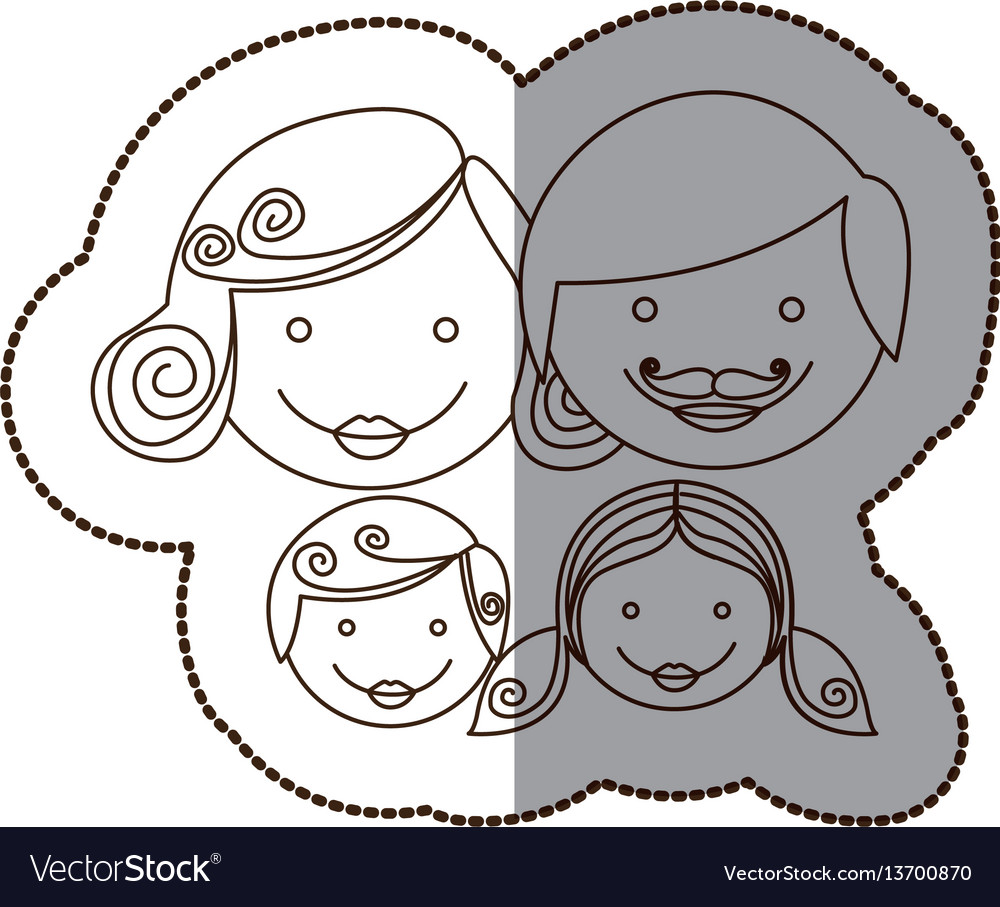 Family together people icon