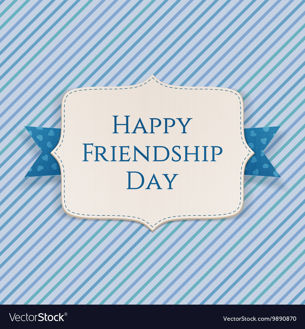 Happy Friendship Day realistic festive Banner vector image