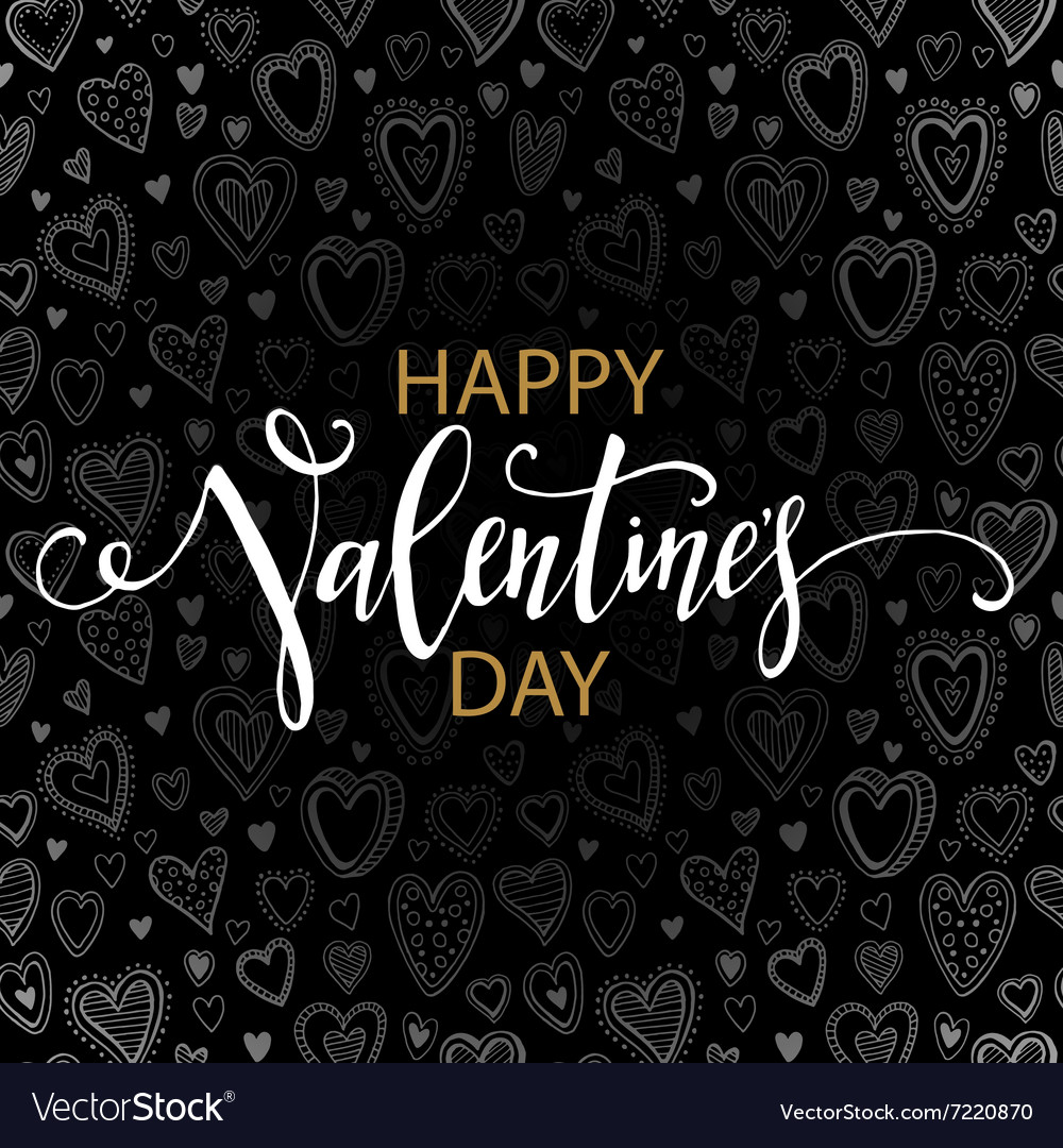 Happy Valentines day cards with hearts pattern