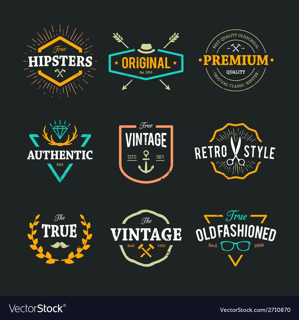Hipster Emblems 1