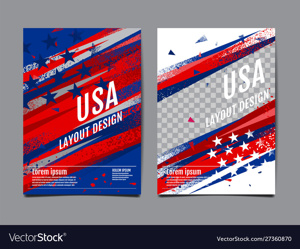 Layout design usa flag template banner