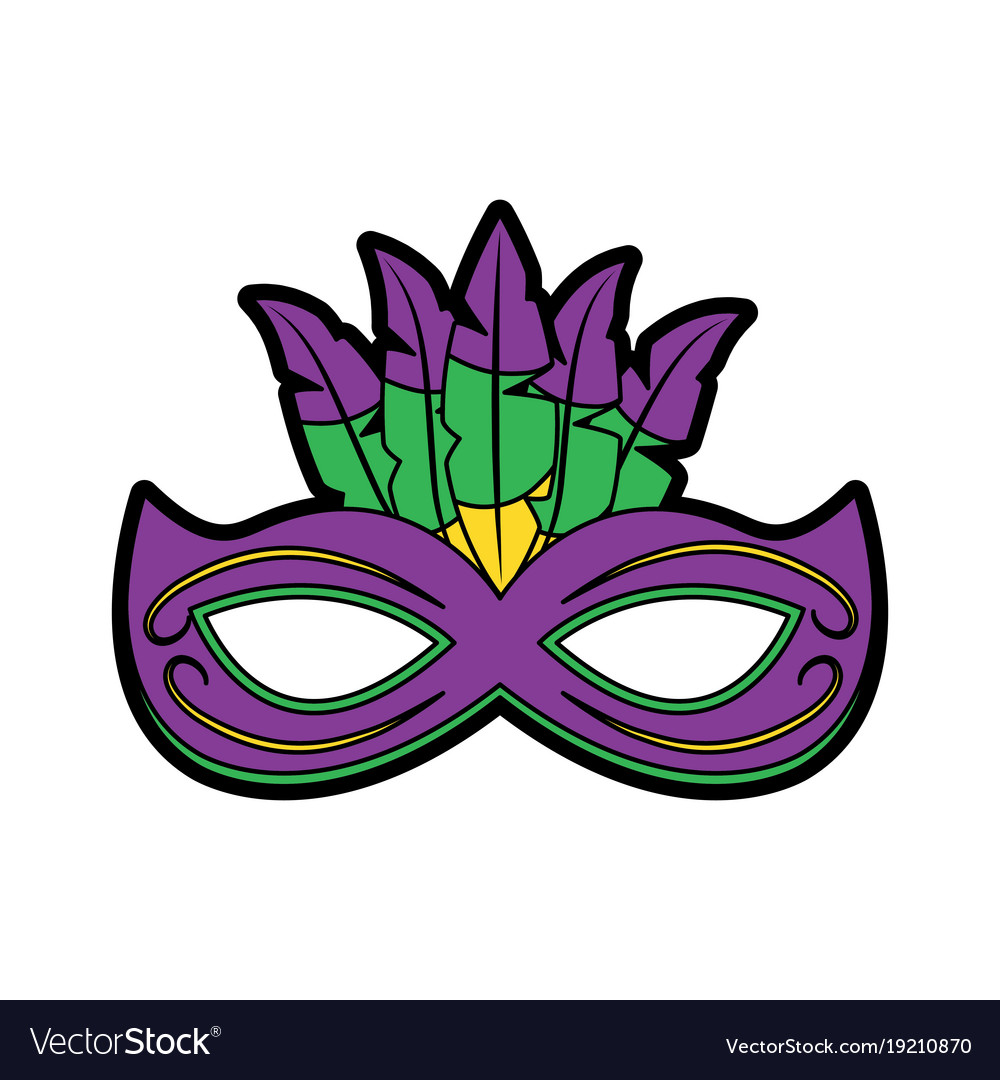 mask mardi gras carnival icon image royalty free vector rh vectorstock com mardi gras vector mardi gras vector background