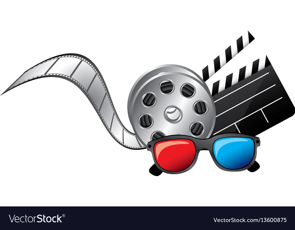 3d glasses clapper board film and film production