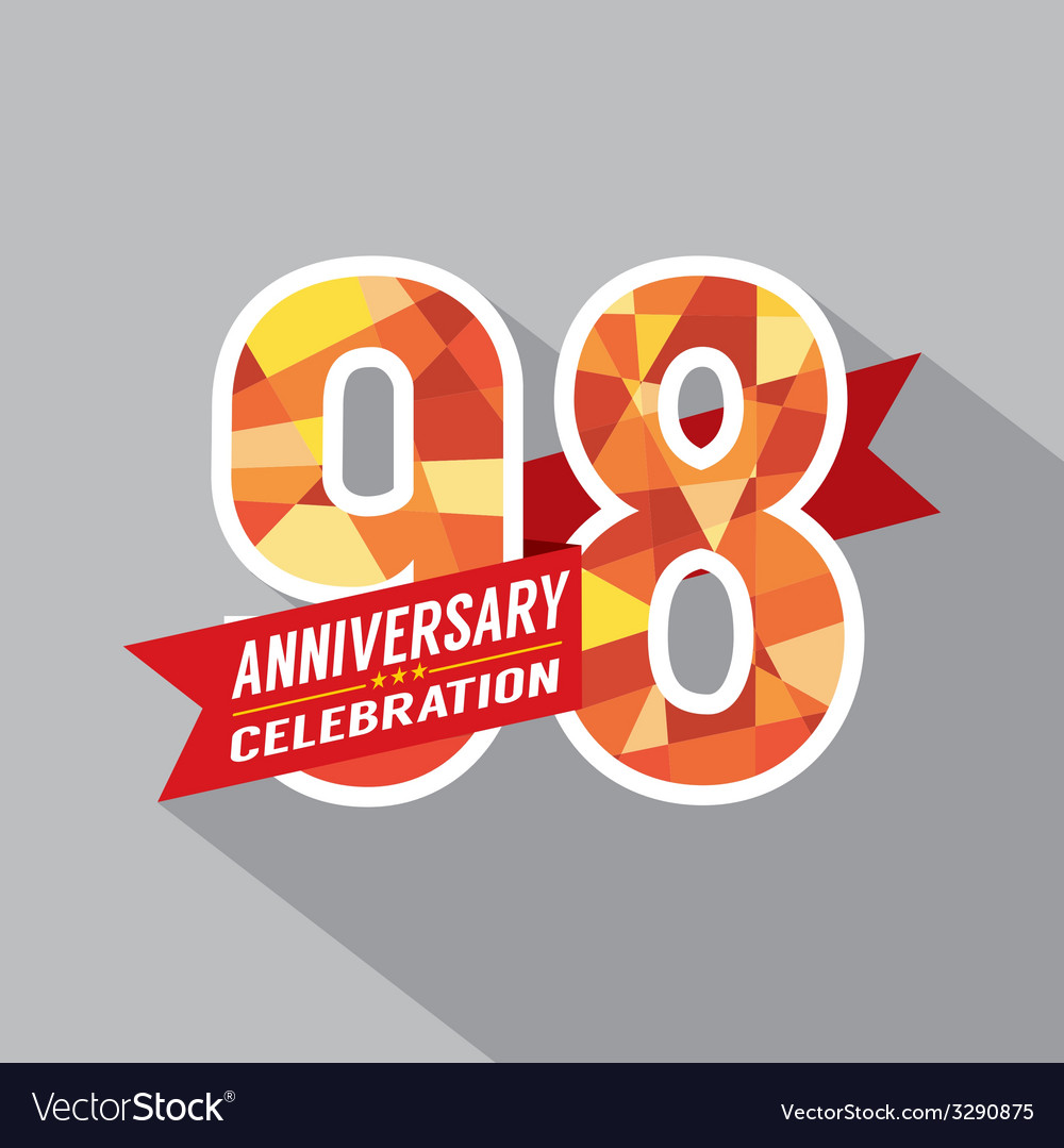 98th Years Anniversary Celebration Design