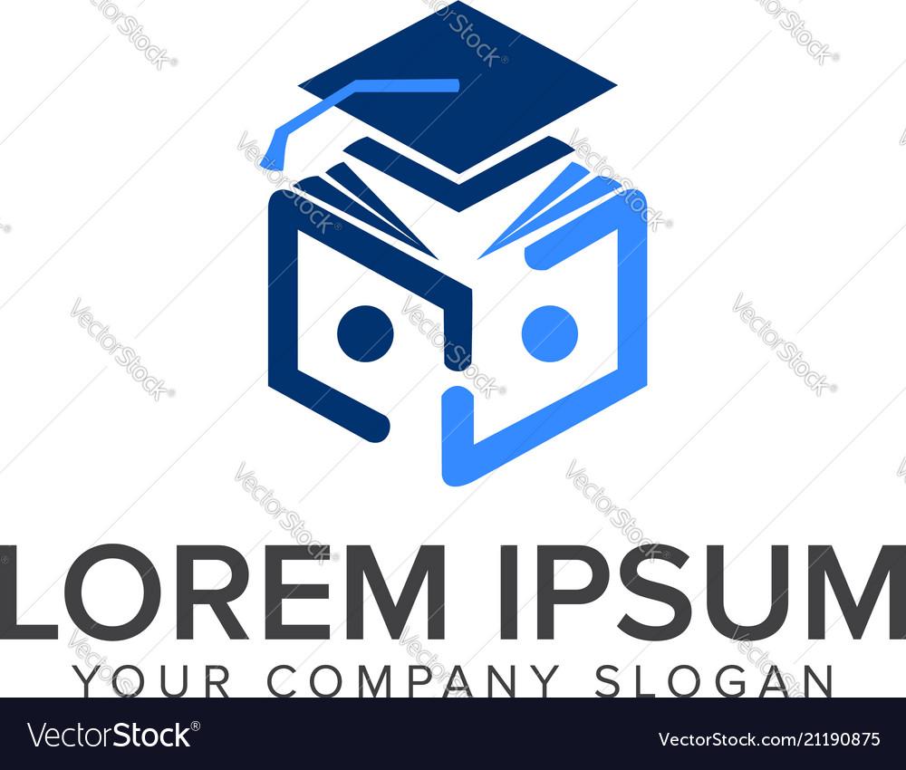 Education logo read book logo design concept