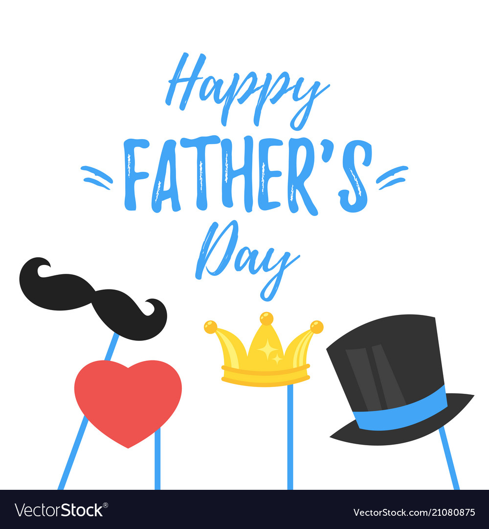 Fathers day greeting card royalty free vector image fathers day greeting card vector image m4hsunfo