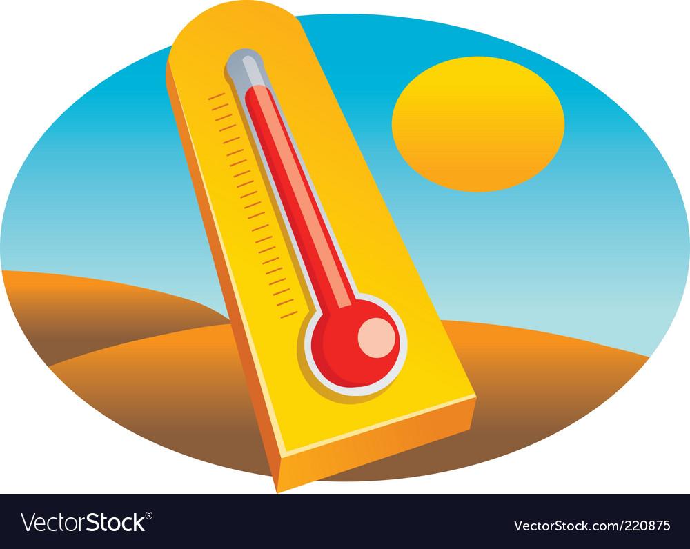 illustration summer sand cartoon hot sun desert heat thermometer boiling