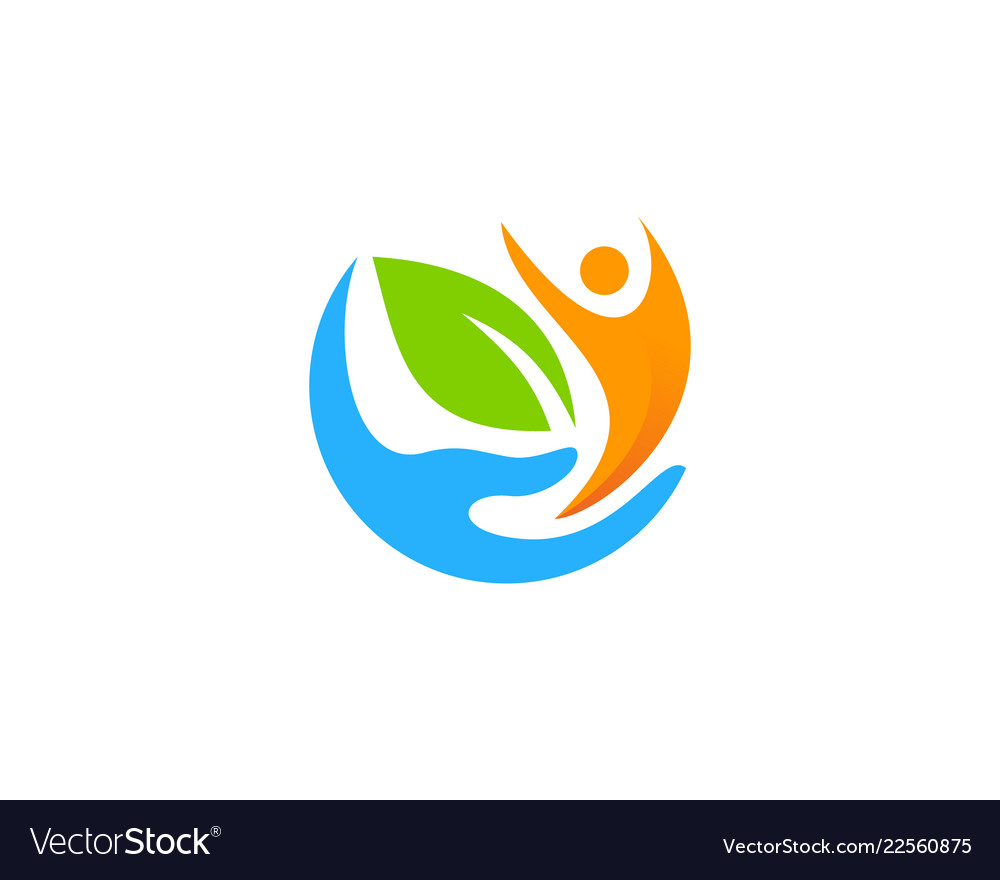 People care logo icon design