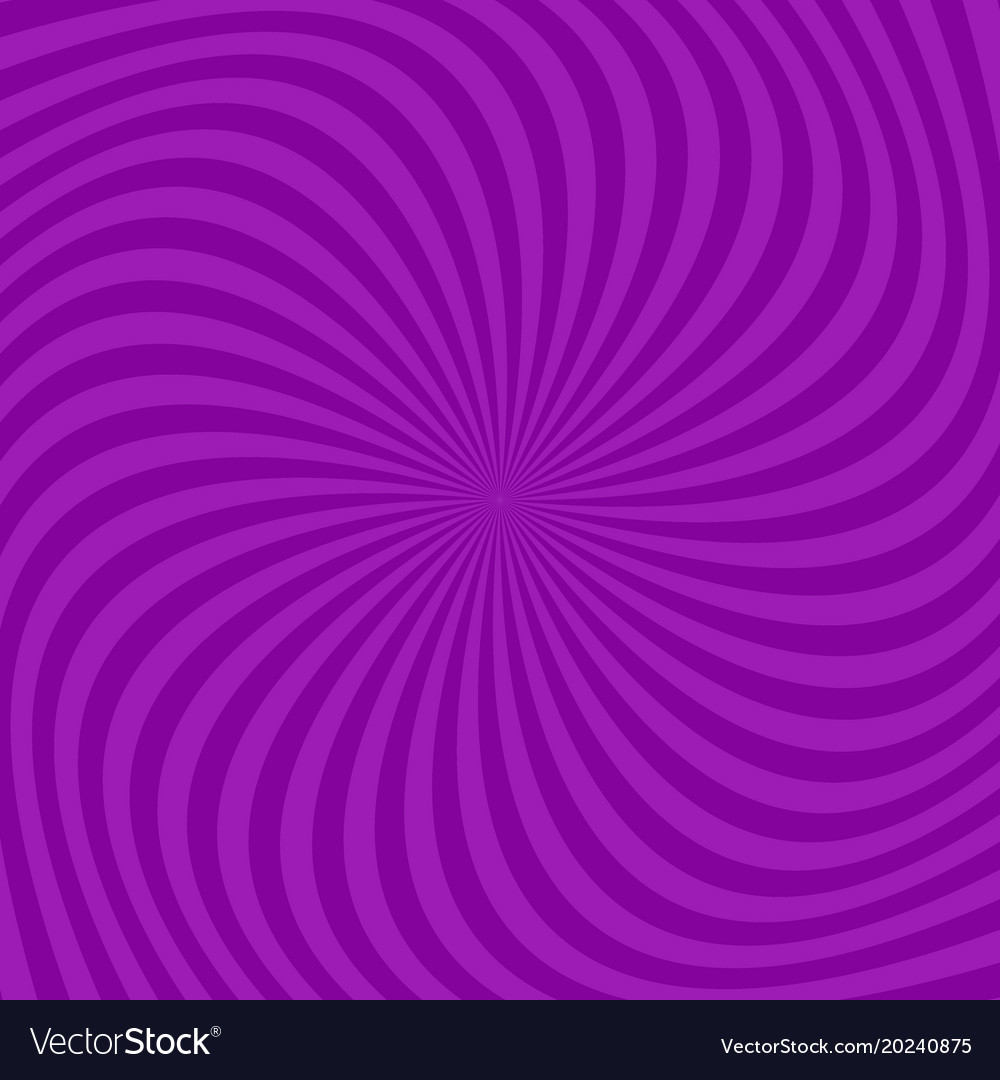 Purple abstract spiral ray pattern background vector image