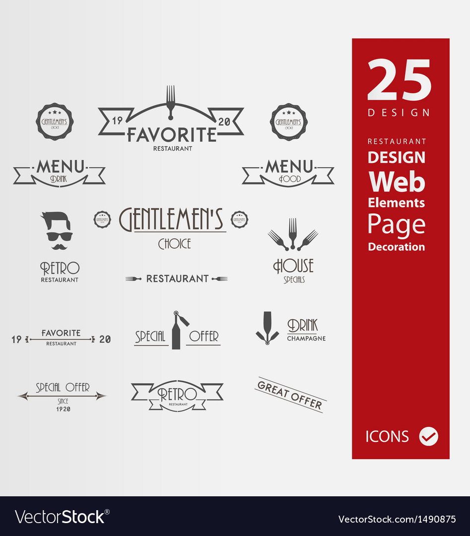 Restaurant banners vector image
