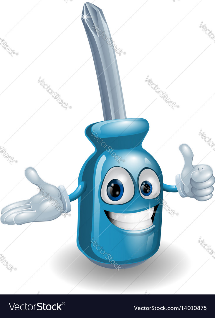 Screwdriver man giving thumbs up vector image