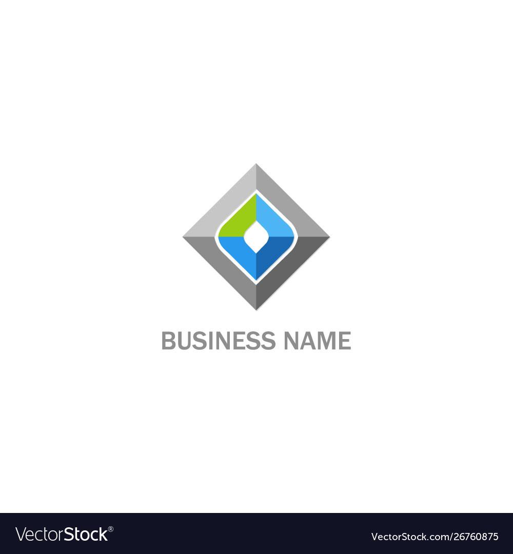 Square geometry shape company logo