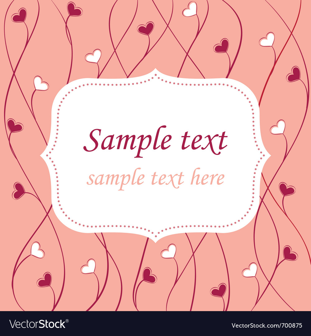 Valentines card background vector image
