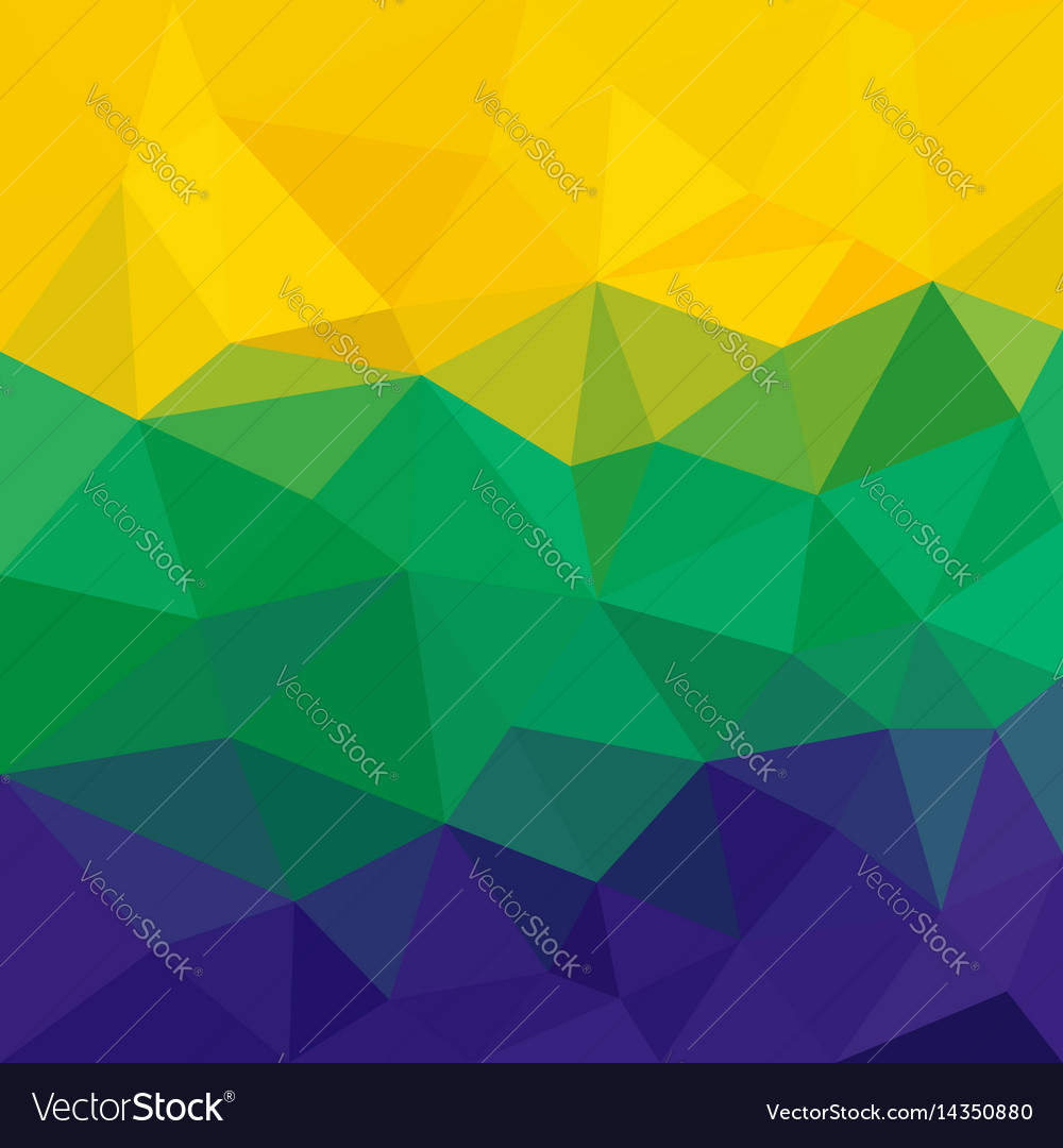 Brazil flag concept low poly triangular abstract vector image
