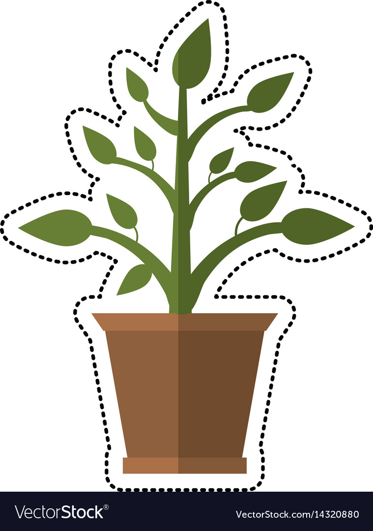 Cartoon pot plant garden image