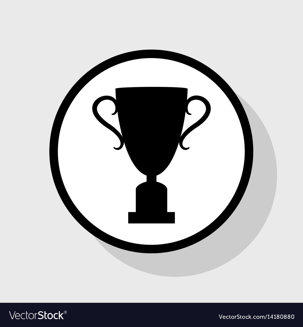 Champions cup sign flat black icon in