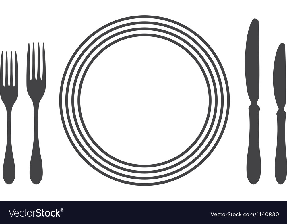 Etiquette Proper Table Setting Royalty Free Vector Image