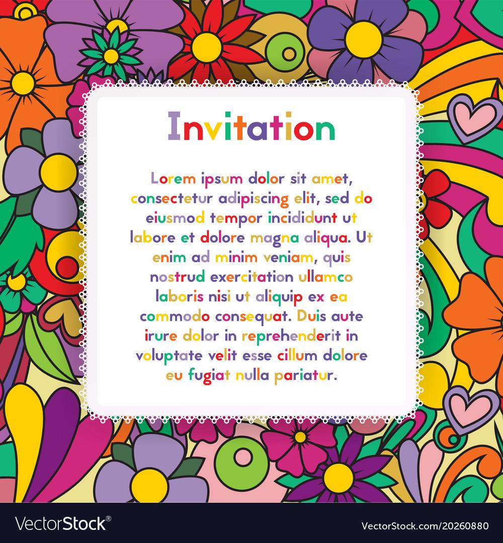 Invitation zentangle floral pattern card zen vector image stopboris Image collections