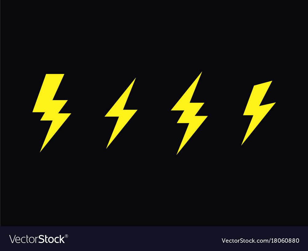 Lightning bolt flash