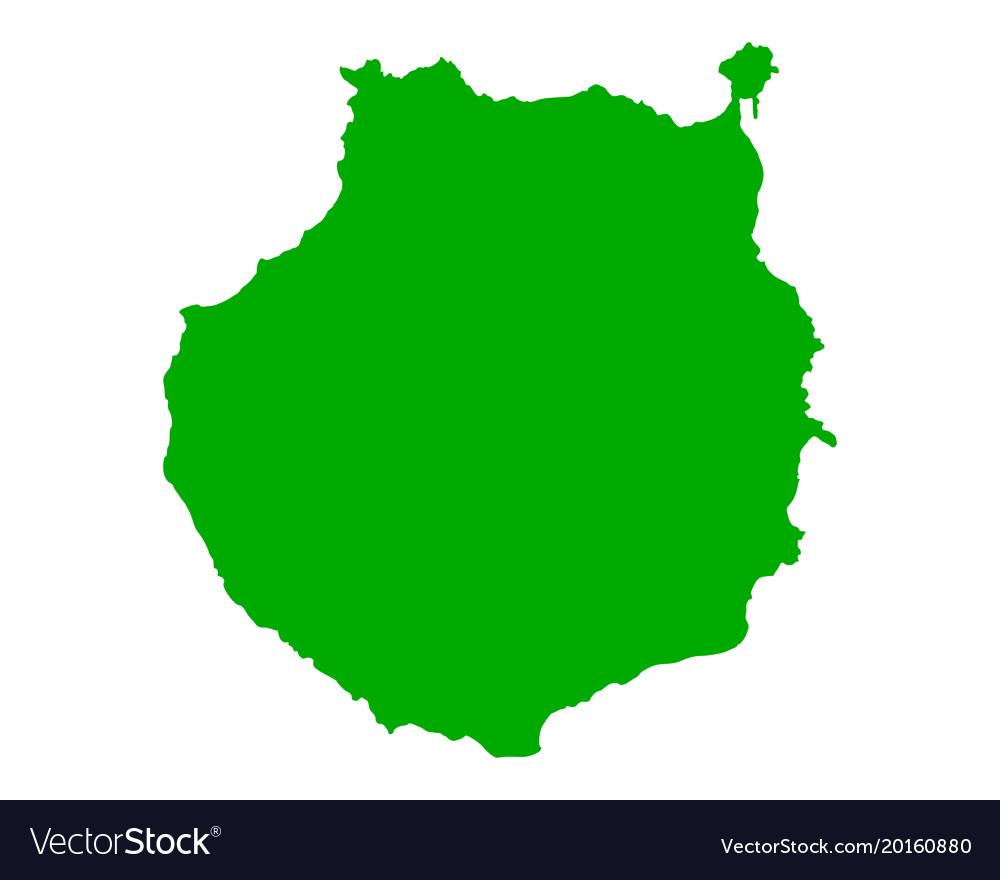 Map Of Gran Canaria Royalty Free Vector Image Vectorstock