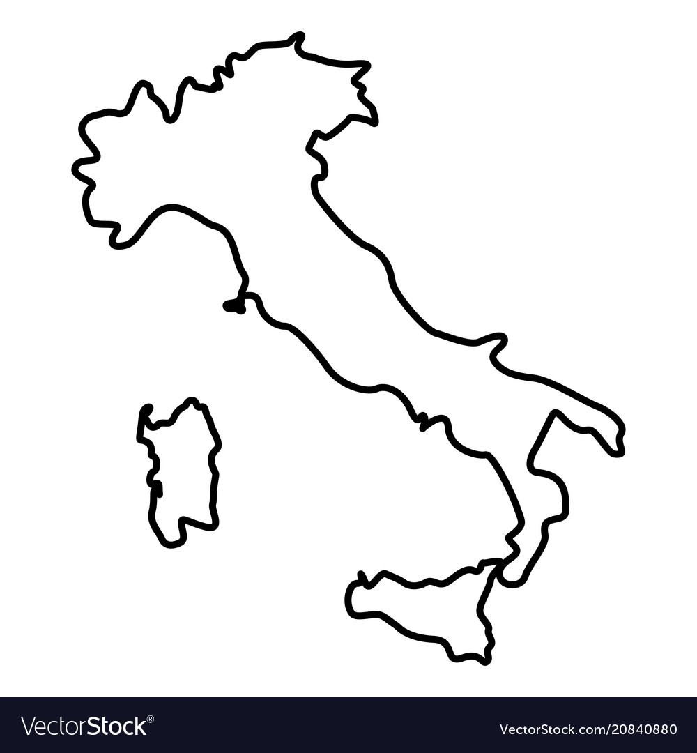 Map Of Italy Simple.Map Of Italy Icon Black Color Flat Style Simple