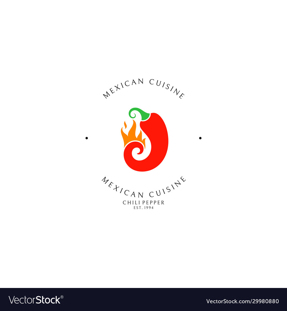 Mexican food logo template