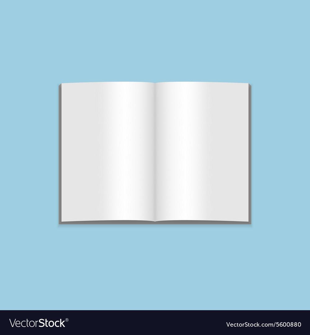 Mockup of blank open Magazine