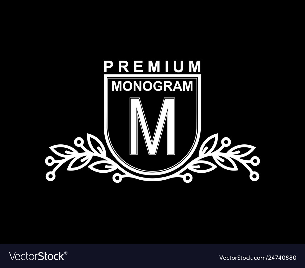 Premium monogram template for your emblems logos