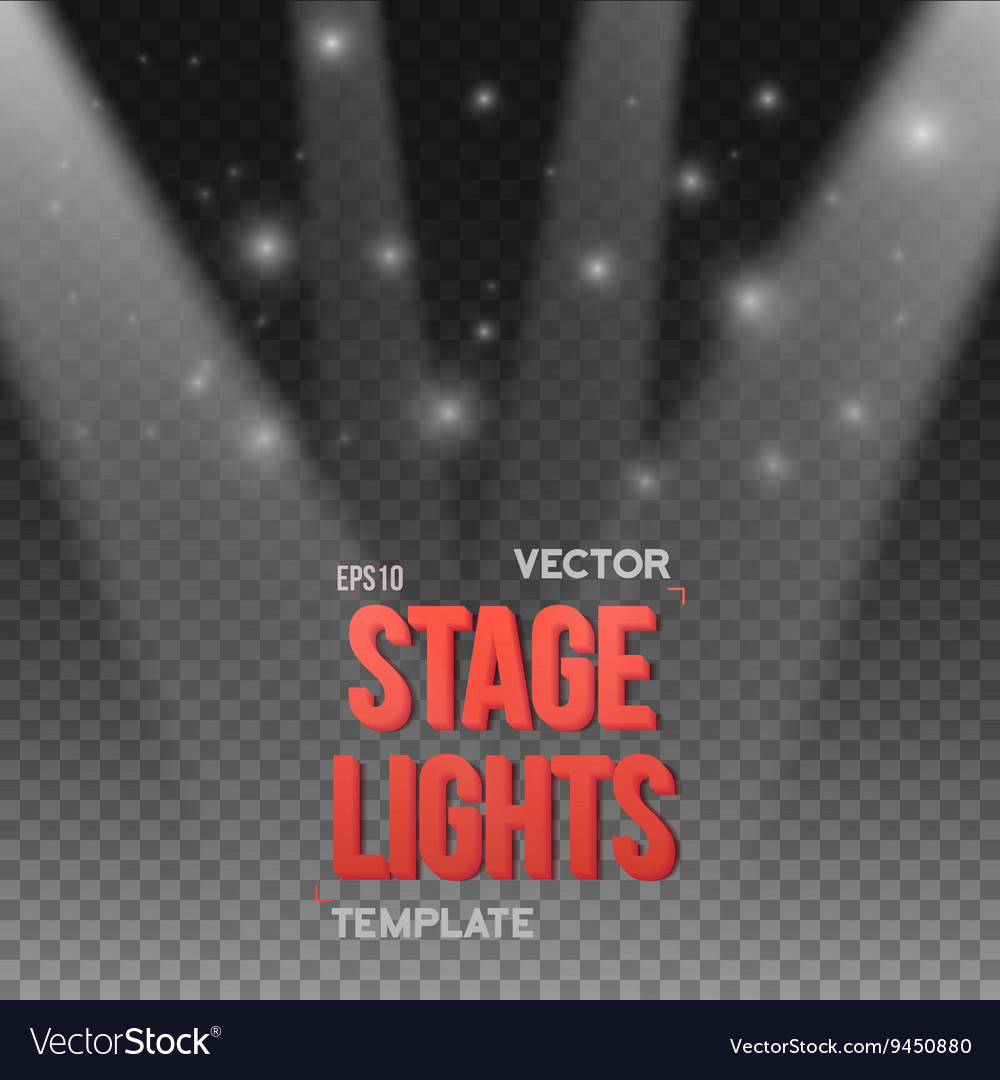 Transparent Studio Stage Light Effect