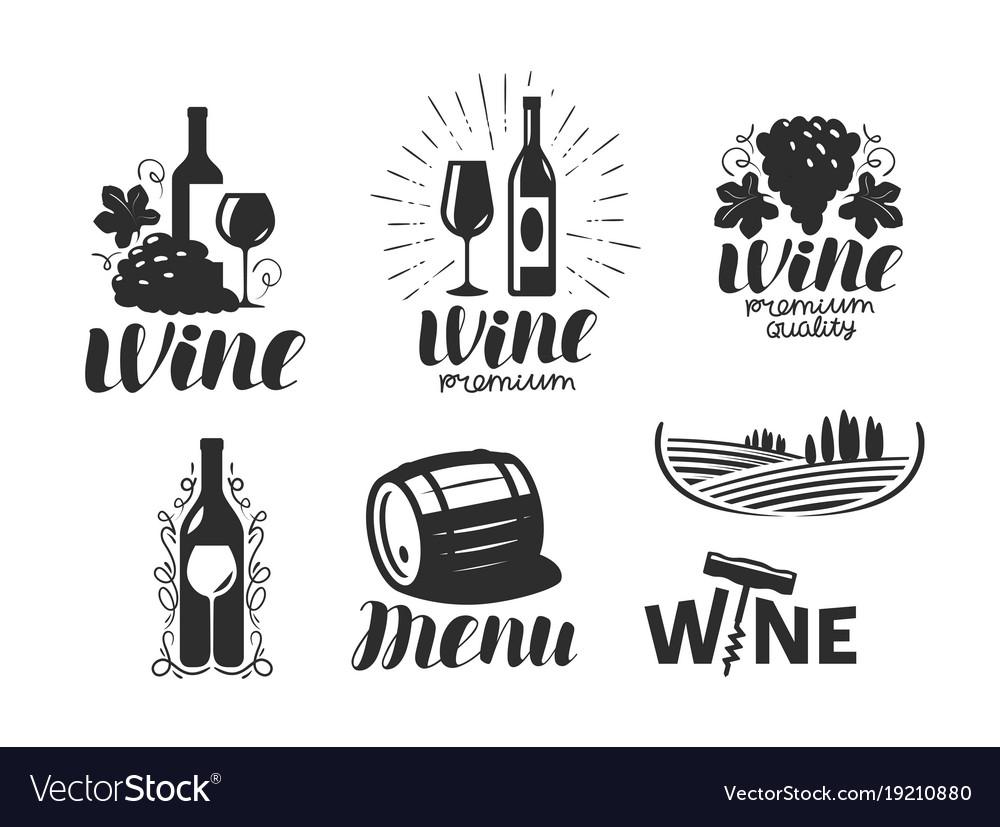 Wine winery logo drink alcoholic beverage