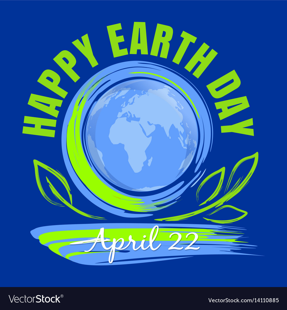 Happy earth day poster design april 22
