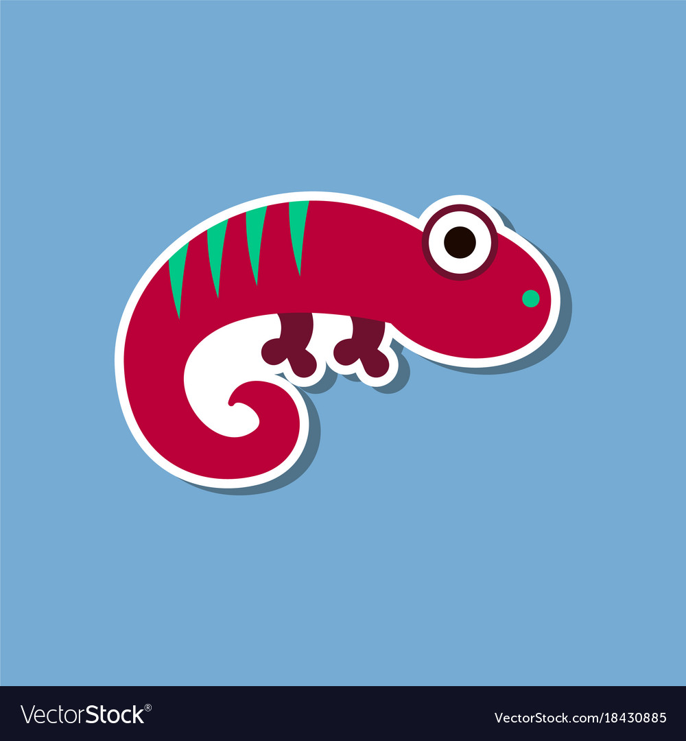 sticker on car of reptile silhouette of lizard