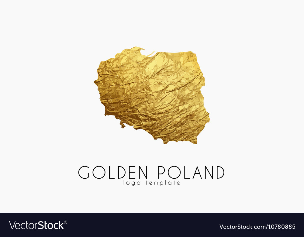 Poland map Golden Poland logo Creative Poland