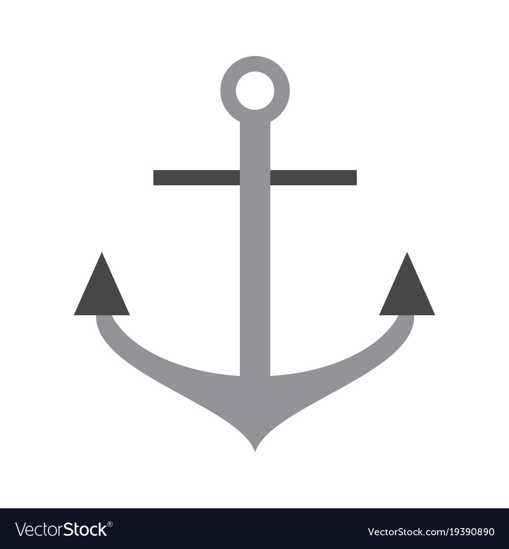 Anchor Marine Symbol Royalty Free Vector Image