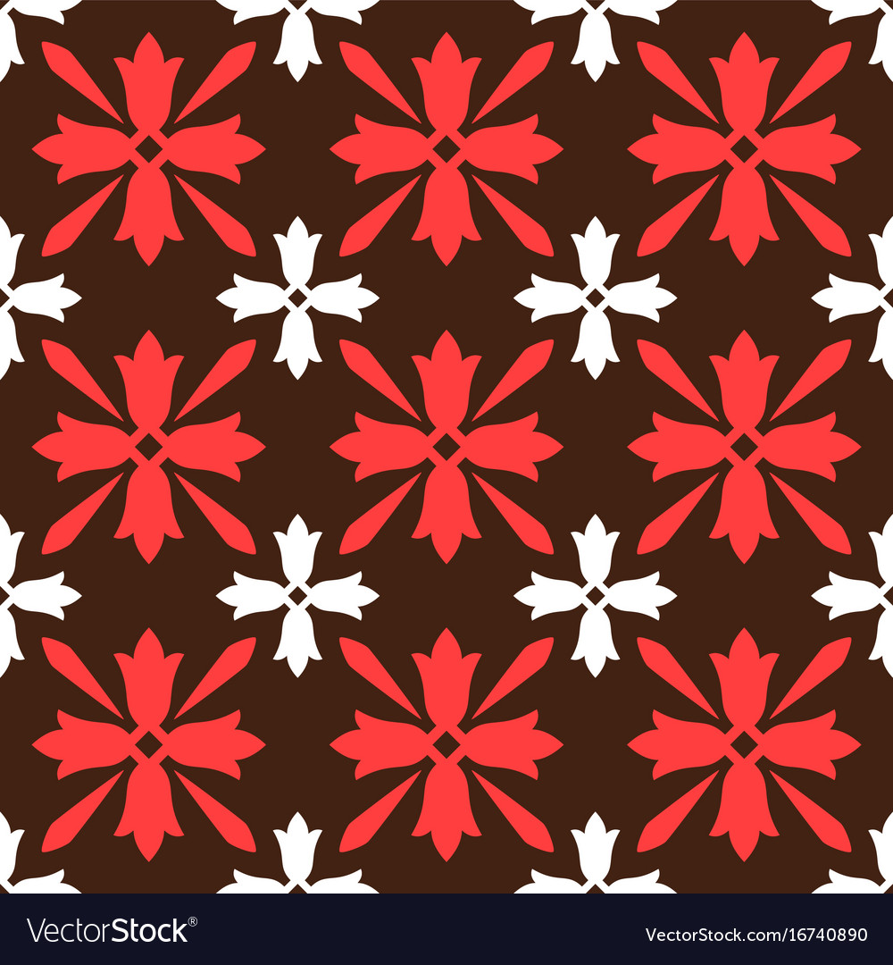 Brown spanish ornamental ceramic tile